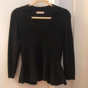 Banana Republic Black Peplum Sweater Size Small